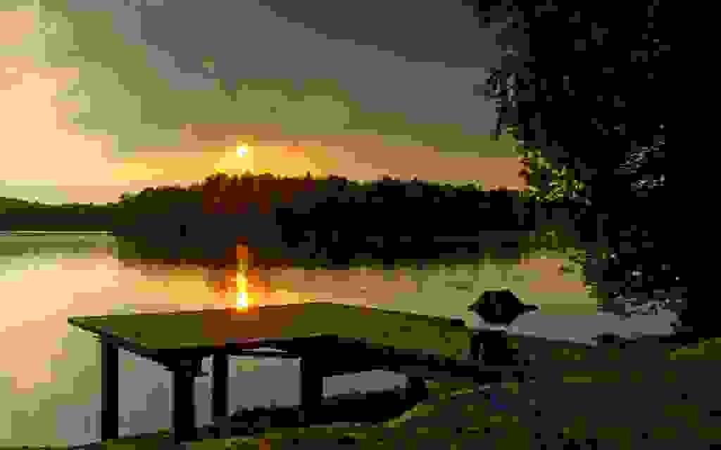 Sonnenuntergang zur Rast